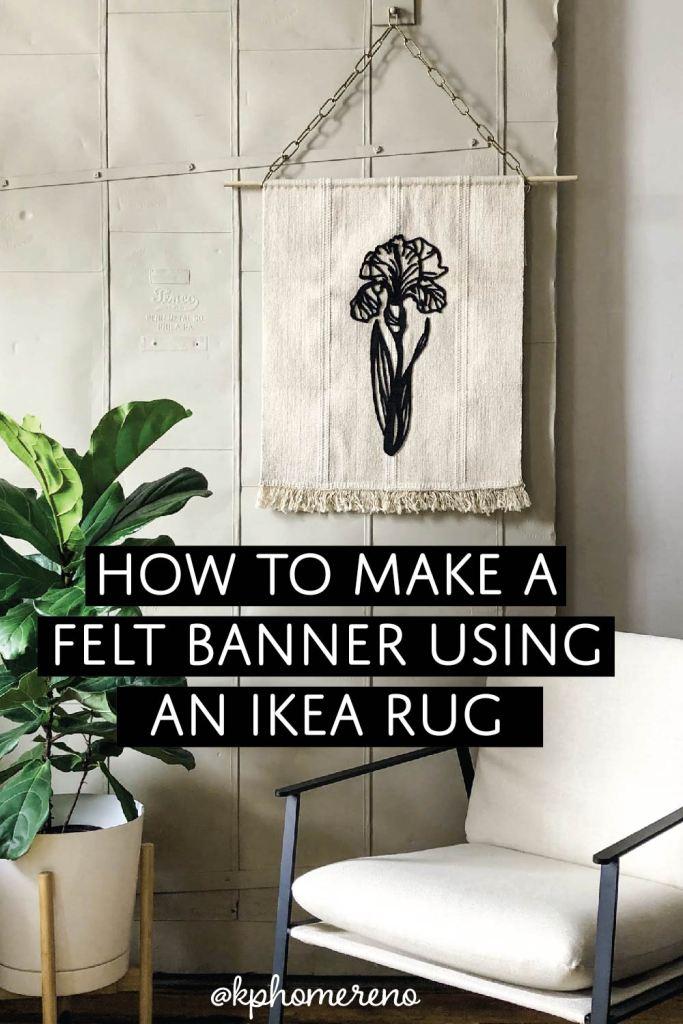 How to make a felt banner using an IKEA rug