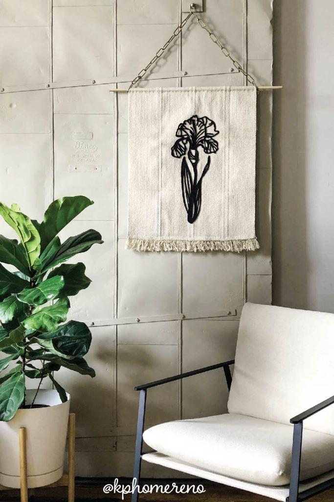 How to make a felt flower banner using an IKEA rug